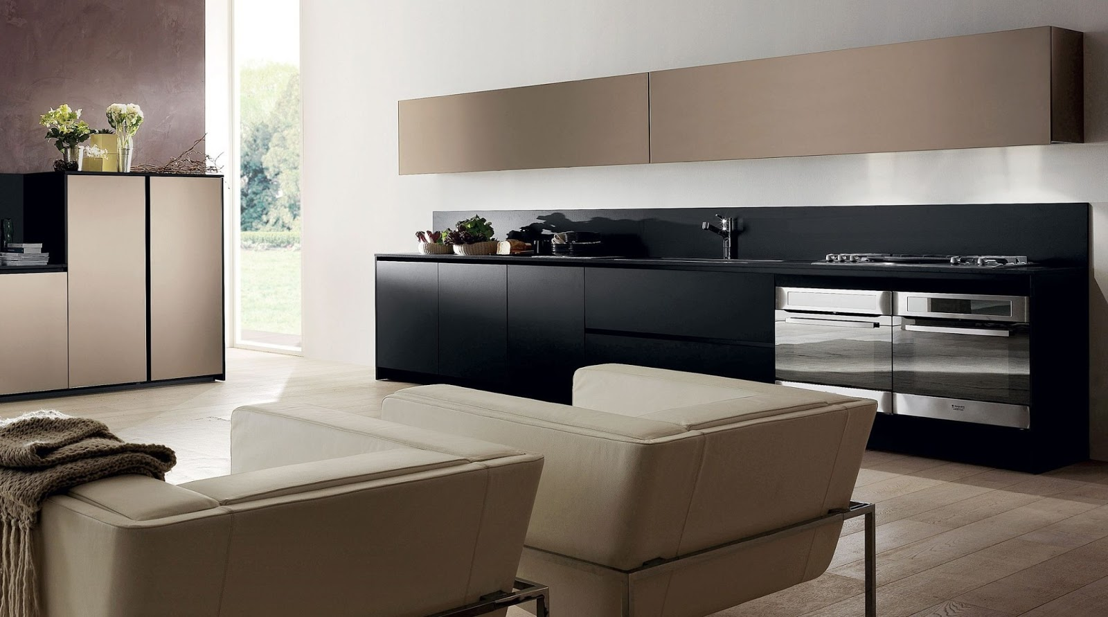 Elegancia en la cocina arcomobel - Cocina encimera negra ...