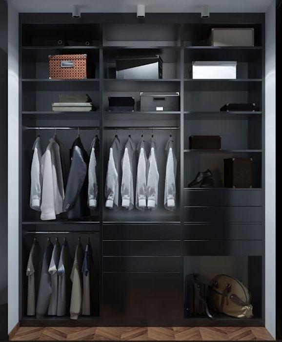 tipos de vestidores modernos para casas pequeas