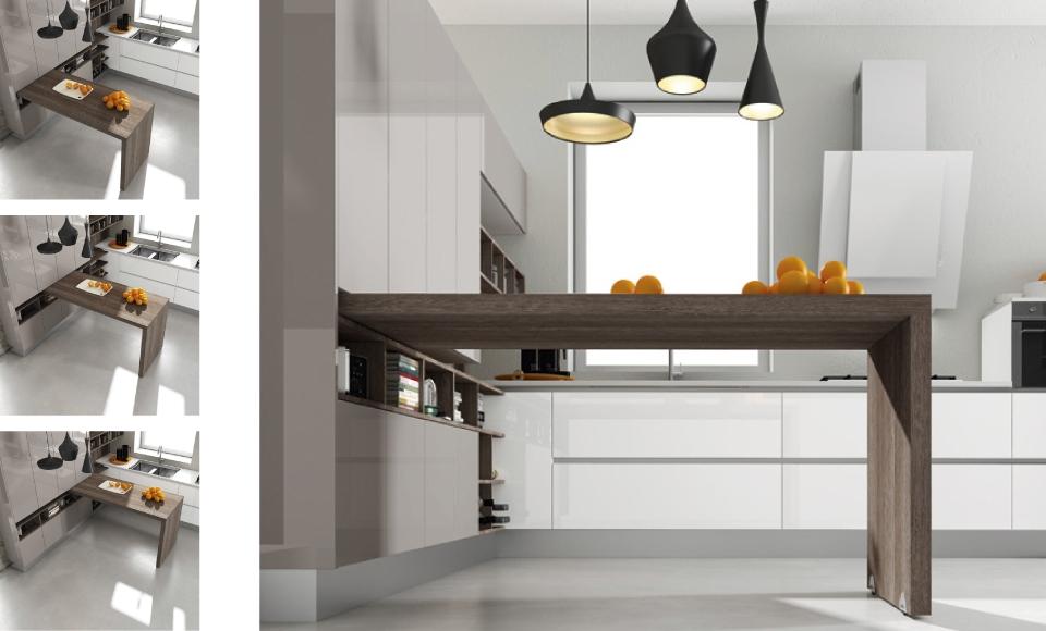 Mesas y barras para cocina - Arcomobel