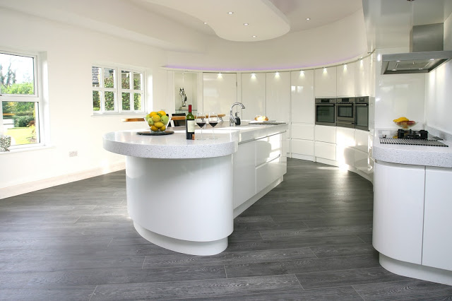 ¿Una cocina curvada?