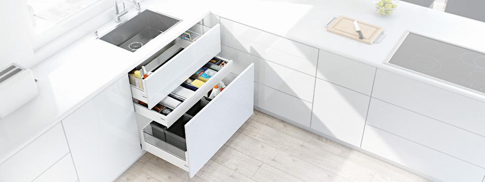Tres modulos de cocina para una organización optima